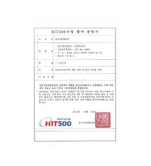 12-HIT500-Certificate